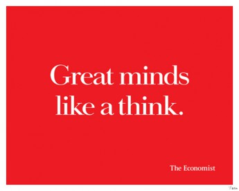 Great Minds from The Economist's 'White out of Red' advertisement campaign. Individually numbered hand-pulled silk screen print on 280 GSM archival paper. Available framed or unframed. (Number shown on screen is for reference only.)