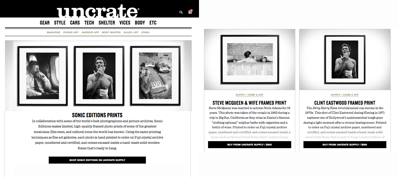 Uncrate | Sonic Editions
