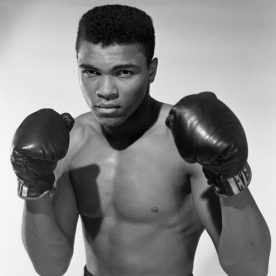 Cassius Clay, 20 year old heavyweight contender from Louisville, Kentucky poses for the camera on May 17, 1962 in Long Island, New York.