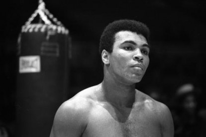 Heavyweight boxer Muhammad Ali trains for his fight against Oscar Bonavena on December 7