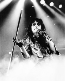 Alice Cooper photographed in 1986 by Janet Macoska.