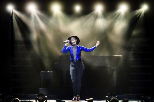 Alicia Keys performs live onstage at the 02 Arena on May 30