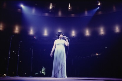 Aretha Franklin photographed during her performance in New York, 1969.