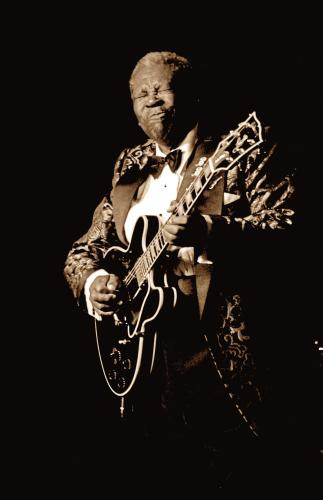 BB King photographed in 1999.
