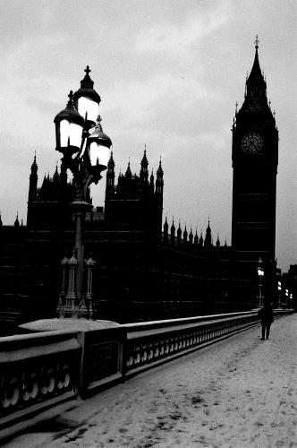 London photographed from Westminster Bridge by Barbara Chandler in 1987 Sonic Editions print