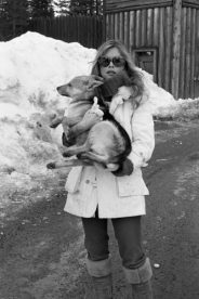 Brigitte Bardot during a visit to Labrador in 1977. She was campaigning against the slaughtering on seals.