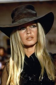 "French actress and singer Brigitte Bardot on the set of  ""Les pétroleuses""."