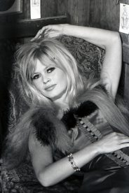 Brigitte Bardot during a promotional shot for 'Viva Maria'.