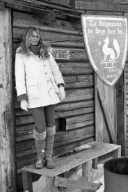 Brigitte Bardot photographed in Canada, 1977. She was campaining against the slaughter of baby seals.