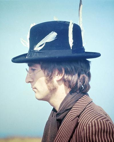 John Lennon during the filming of Magical Mystery Tour.