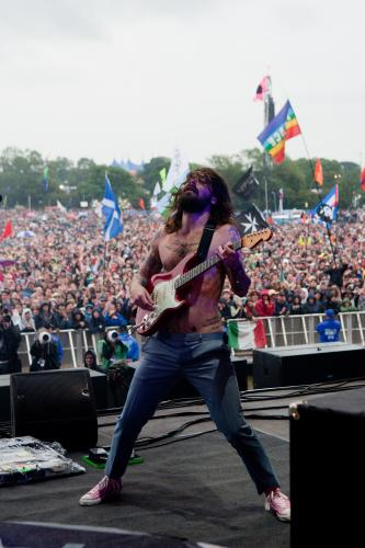 Simon Neil of Biffy Clyro at Glastonbury 2011.