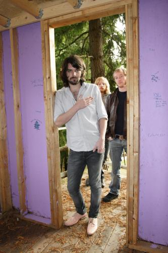 Biffy Clyro photographed by Tom Oxley in 2006 in Canada.