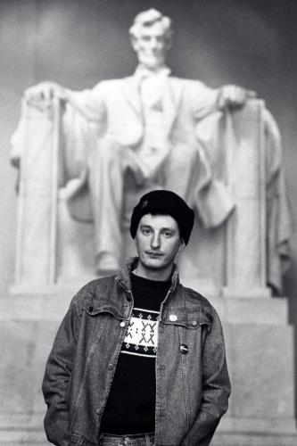 Billy Bragg photographed on his American tour