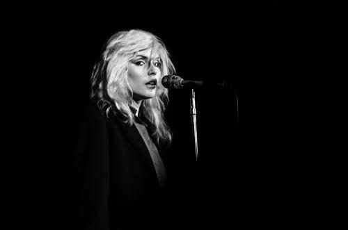 Debbie Harry of Blondie performs live at The Winterland Ballroom in 1977 in San Francisco