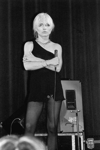 Debbie Harry performing with Blondie in Hammersmith