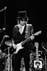 Blackbushe 17th July 1978 - Bob Dylan headlined at 'The Picnic At Blackbushe'. Bob was joined by Eric Clapton for Knocking On Heaven's Door. Estimates of the audience vary between 100