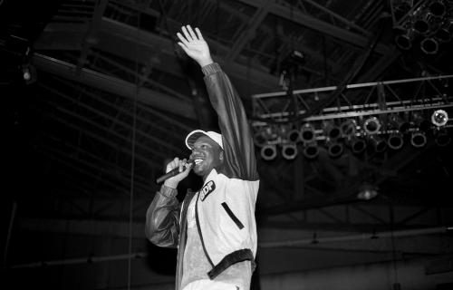 Rapper KRS-ONE of Boogie Down Productions