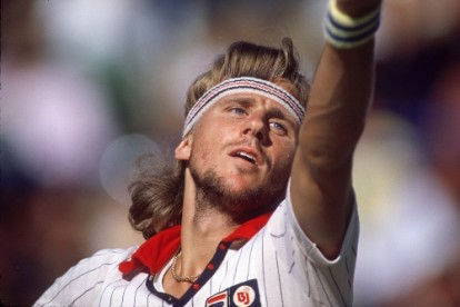 Bjorn Borg photographed at The US Open.