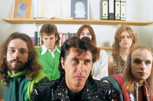 A group portrait of the band Roxy Music.