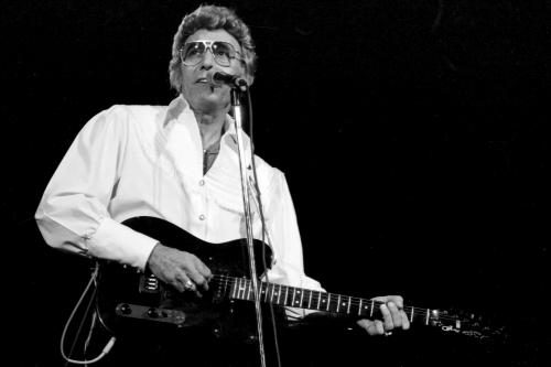 Carl Perkins photographed by Janet Macoska.
