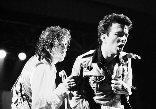 Joe Strummer and Mick Jones of the Clash at Friars Aylesbury