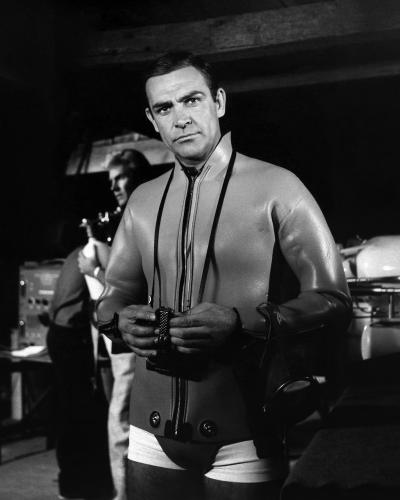 Actor Sean Connery as James Bond in a scene from the United Artists film 'Thunderball' in 1965.