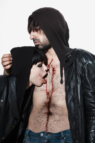 Crystal Castles - Photo by Tom Oxley - NME Collection