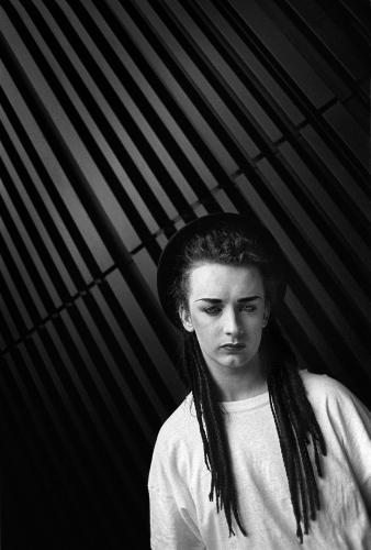 Boy George photographed in Victoria
