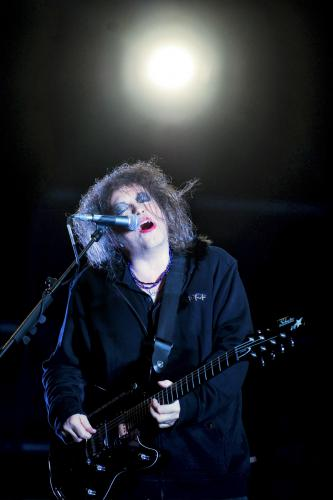 Robert Smith of The Cure performs as the band headline the main stage on day 3 of Bestival at Robin Hill Country Park in Newport
