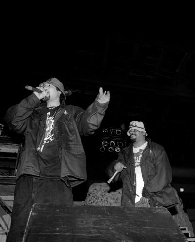 Rappers B-Real and Sen Dog of rap group Cypress Hill