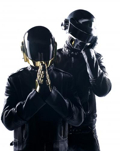 Daft Punk (Guy-Manuel de Homem-Christo & Thomas Bangalter) photographed in Paris