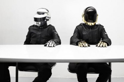 Daft Punk (Guy-Manuel de Homem-Christo and Thomas Bangalter) photographed in Paris