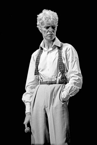 David Bowie 1983 Black and white.