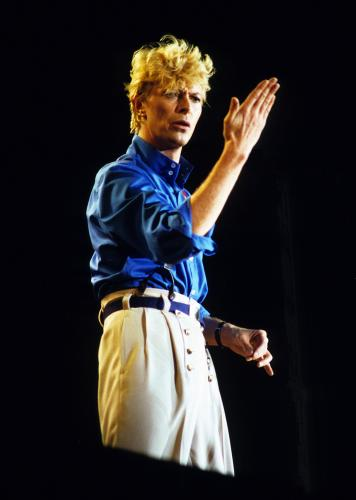 David Bowie in concert in 1983.