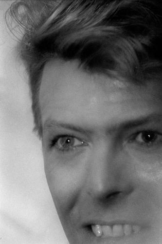 David Bowie photographed in London 1987.
