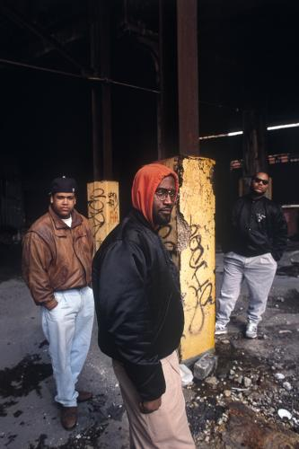 De La Soul photographed on the streets of New York City