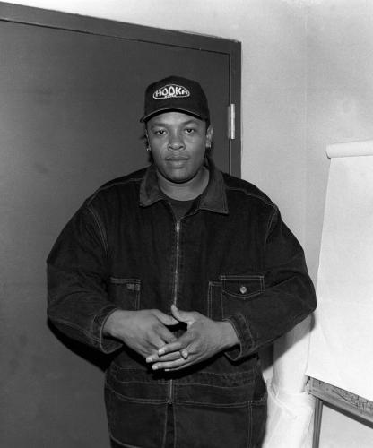 Dr Dre photographed backstage