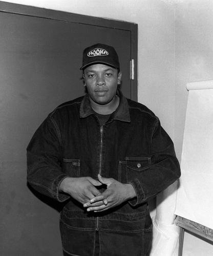 Dr Dre photographed backstage
