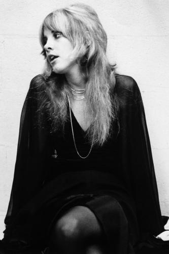 Stevie Nicks of Fleetwood Mac during the recording of the eponymous album 'Fleetwood Mac'.