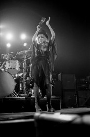 Stevie Nicks of British-American rock band Fleetwood Mac performs live on stage at Yale Coliseum in New Haven