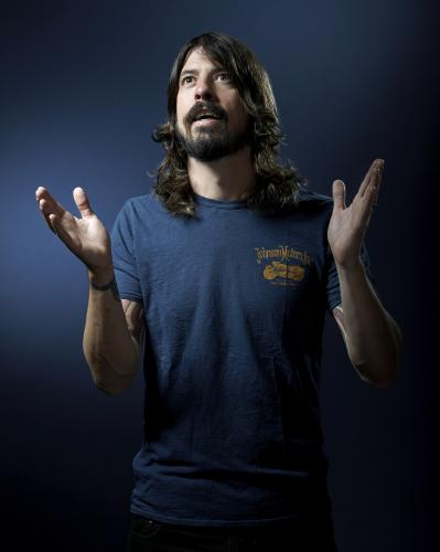 Dave Grohl of the Foo Fighters photographed at the Covent Garden Hotel