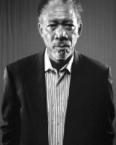 Morgan Freeman photographed by Chris Floyd.