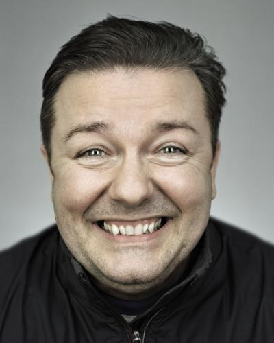 Ricky Gervais photographed by Chris Floyd in 2007.