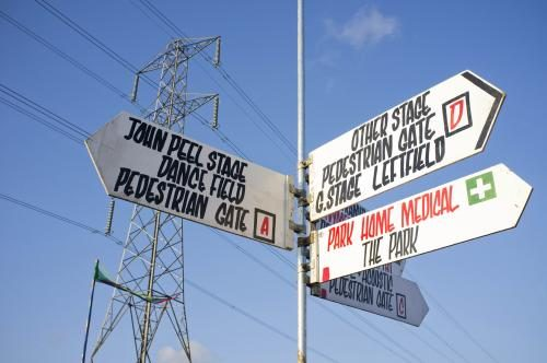 Glastonbury Signposts 2011.