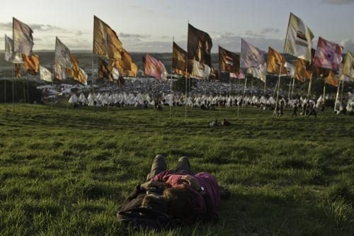 Glastonbury flags. 2011.