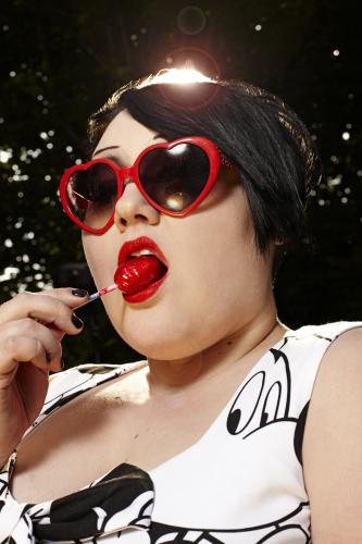 Beth Ditto of Gossip photographed in London.