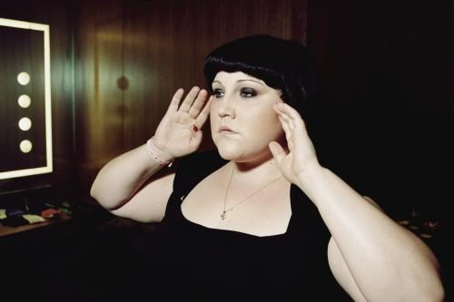 Beth Ditto of Gossip poses for a photograph.