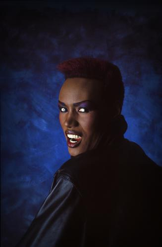 Grace Jones photographed at The Dorchester Hotel