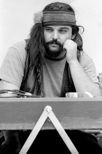 Ron 'Pigpen' Mckernan of the Grateful Dead photographed on stage in 1967.