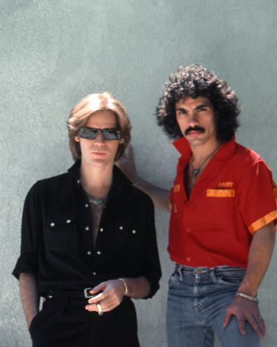 "Musicians Daryl Hall and John Oates of the rock and roll band ""Hall And Oates"" pose for a portrait in Detroit"